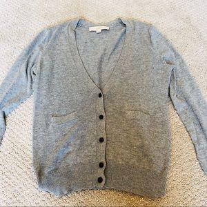 Sweaters - Ann Taylor loft slim fitting grey knit top